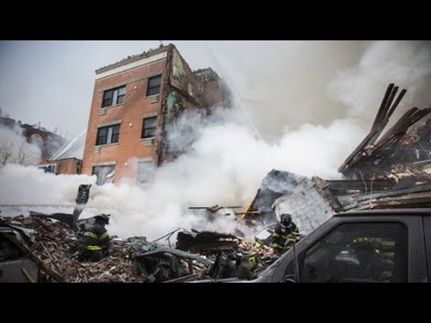 Footage of New York City gas explosion Building Collapse in NYC new