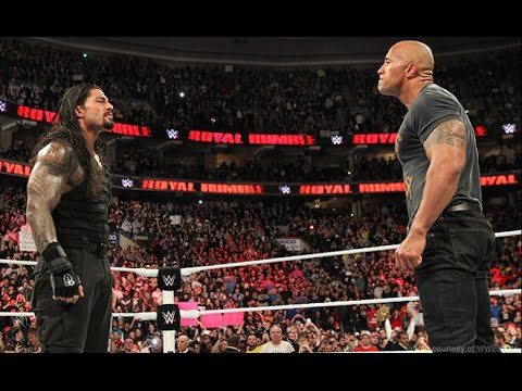 Roman Reigns Face to Face With The Rock  HD ; Raw Match 2016/12/06