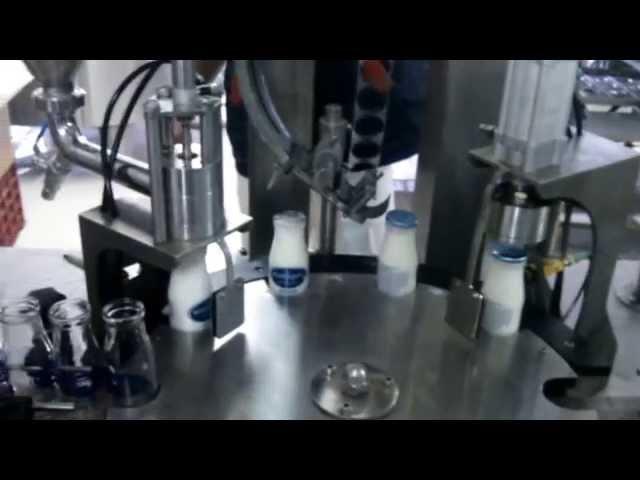 bottle filling machine/cam şişe ayran  dolum kapatma makinesi