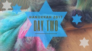 Green Blended Top Impressionism: Hanukkah 2017 Day Two