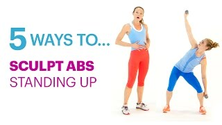 Sculpt Your Abs Standing Up with These Simple Moves—Self's 5 Ways To