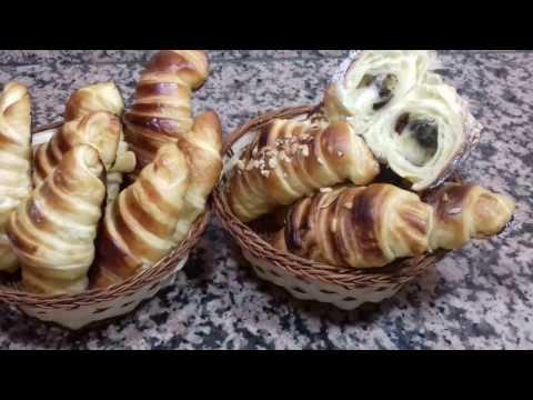 croissant-fait-maison-كرواسون-بالشوكولا-بدون-عجين-مورق