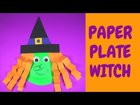 How to Make a Paper Plate Witch | Halloween Crafts for Kids