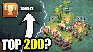 +1700 Trophies In just an hour??!! | Amazing BH3 Trophy pushing base | Clash of Clans