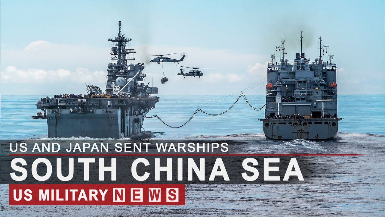 US And Japan Sent Warships, Aircraft Carriers and troops to South China Sea