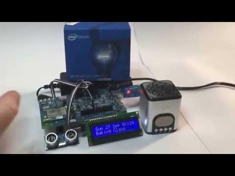 Talking Google Calendar using the Intel Edison Computing Platform