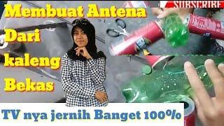MEMBUAT ANTENA TV DARI KALENG BEKAS || 100% JERNIH BANGET