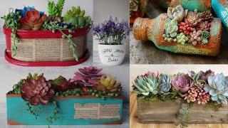 Ideias Lindas de Vasos Reciclando e Decorando