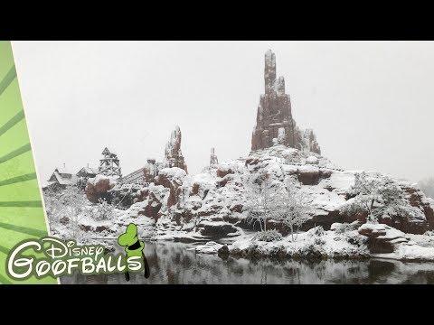 Big Thunder Mountain Ride In The Snow - Disneyland Paris 2018