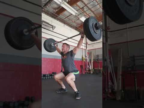 Pause snatch from lift off 1*1*4 @145 set 1