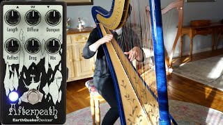 EarthQuaker Devices Afterneath V3 Pedal Demo on Electric Harp