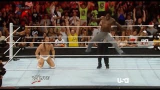 Bo Dallas vs RTruth WWE RAW 7/28/14 #BOLIEVE #rawhouston
