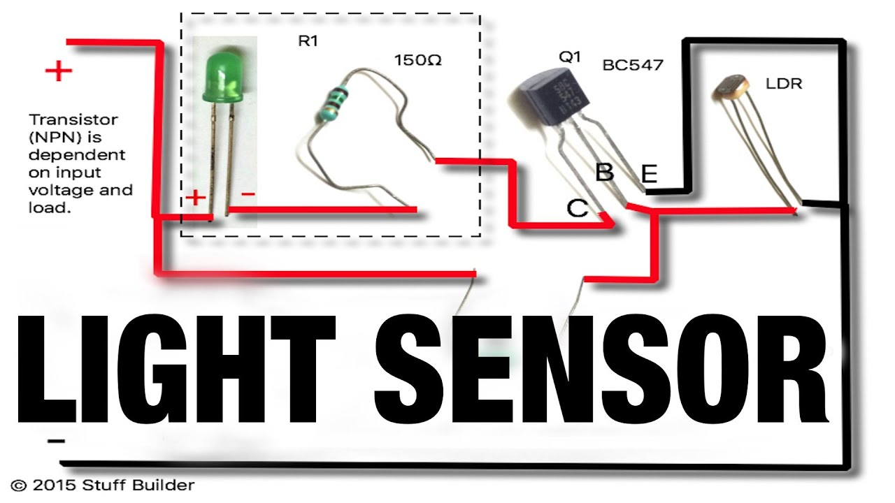 Turns ON when dark)How to build the simplest light sensor using LDR ...