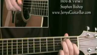 How To Play Stephen Bishop Separate Lives (intro only)