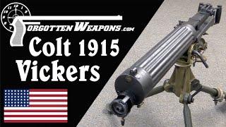 Colt's Model 1915 Vickers Gun in .30-06 - YouTube