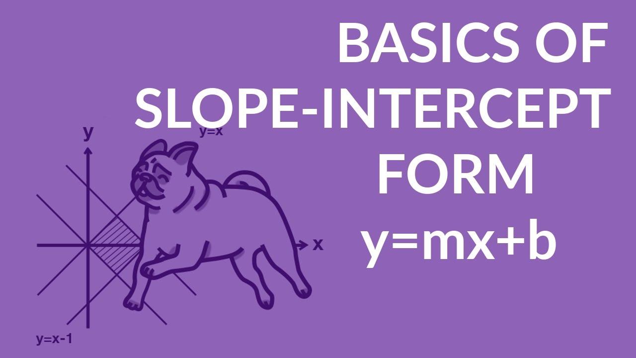 slope intercept form of the equation of a line y mx. Black Bedroom Furniture Sets. Home Design Ideas