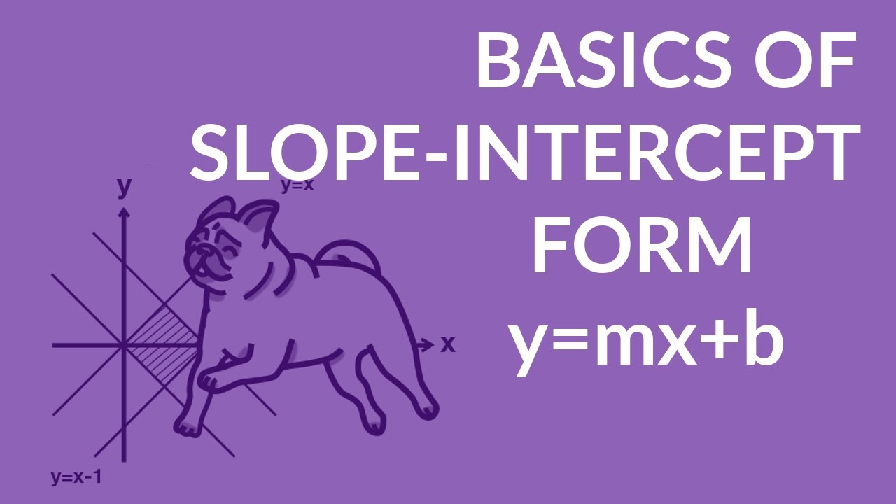ʕ•ᴥ•� Slope Intercept Form Of The Equation Of A Line Y=mx+b: Simple Basics