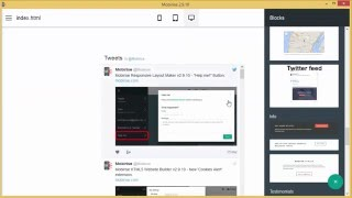 How to add Twitter Feed in Mobirise Webpage Creator v2.10 thumbnail