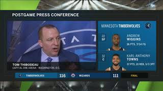 Thibs says Bjelica 'showed poise' against Wizards