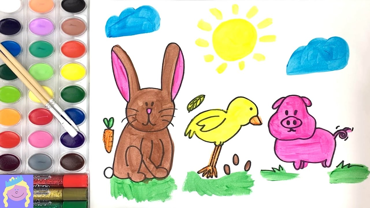 Learn How To Draw And Paint Barn Animals With This Easy Drawing And