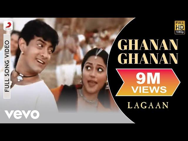 A.R. Rahman - Ghanan Ghanan Best Video|Lagaan|Aamir Khan|Alka Yagnik|Udit Narayan