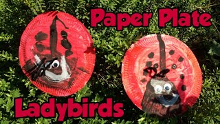 Paper plate Ladybirds - simple kids crafts - paper plate craft - easy kids craft