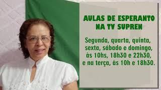 Aulas de Esperanto na Tv Supren