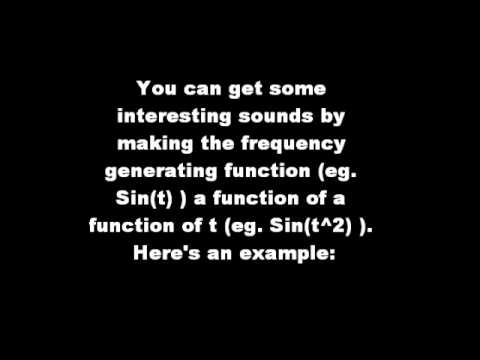 Making Music with Mathematical Functions by Gianmarc