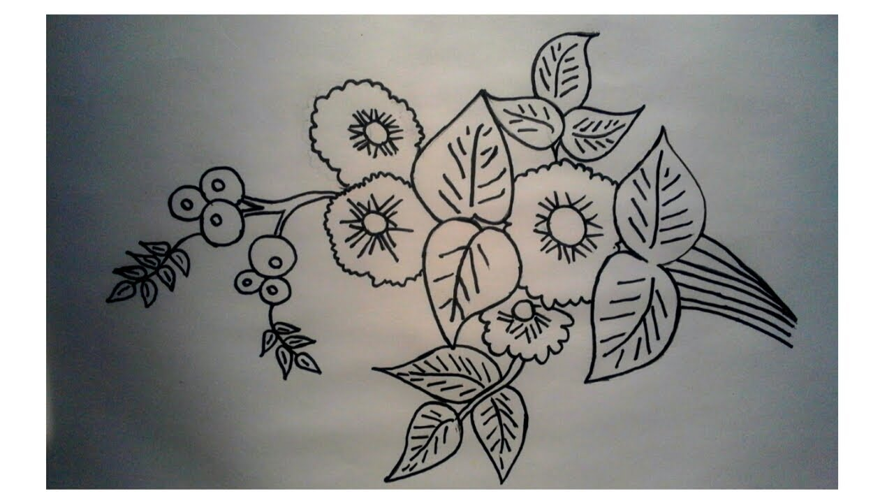 How to draw a beautiful flower sketch in th a world youtube how to draw a beautiful flower sketch in th a world izmirmasajfo