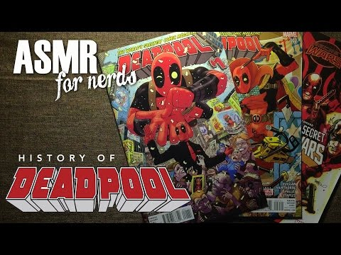 Deadpool - Superhero History - Comic Book ASMR - whispering, page turning,