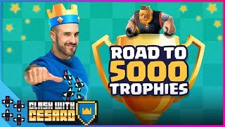 THE ROAD TO 5000 TROPHIES! - Clash With Cesaro