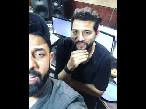 Gippy Garewal And Jassi katyal (Jay K ) in jassi katyal studio for Manje Bistre