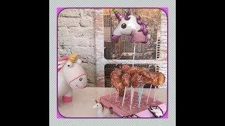 Krapfen - Pops Cake-Pops Kinder Geburtstag Einhorn