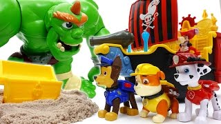 Paw Patrol Treasure Hunting~! Hungry Giant Ogre Appeared