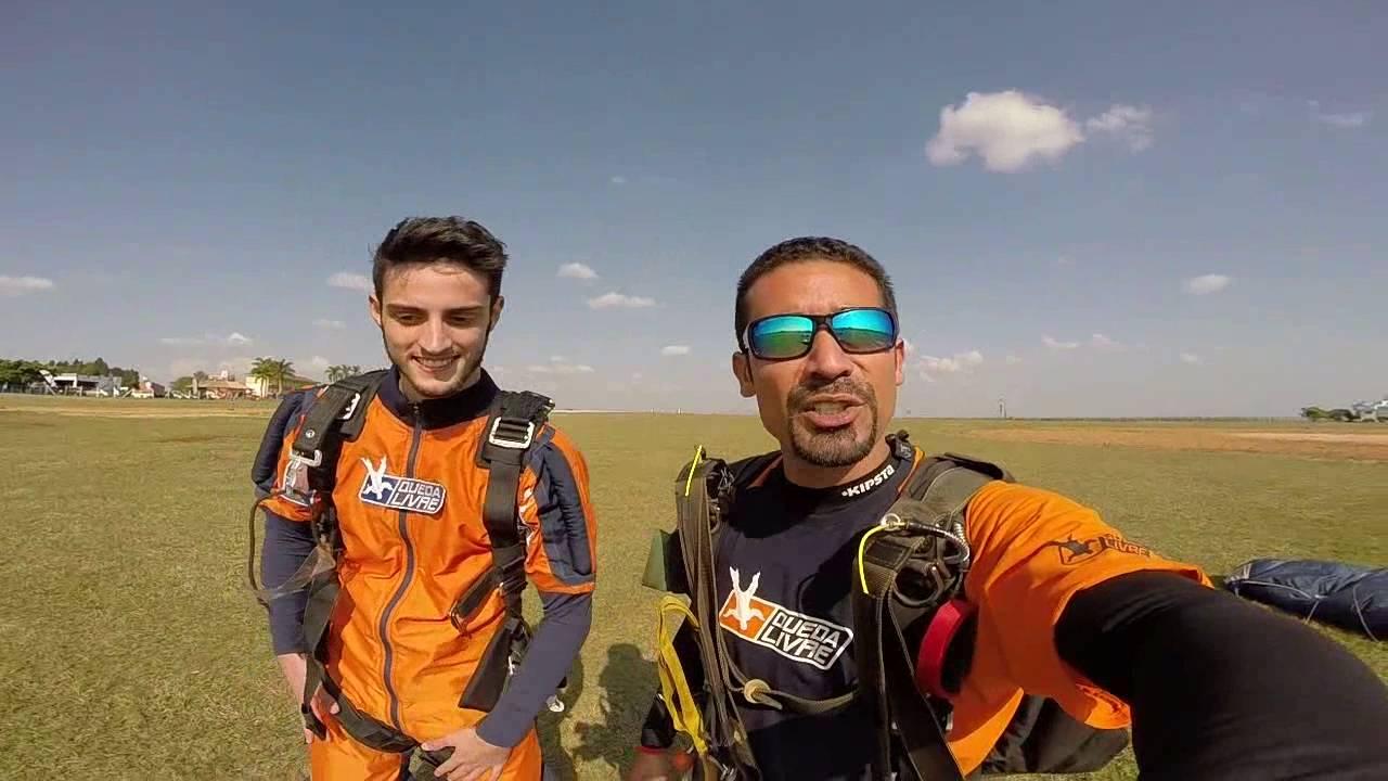 Salto de Paraqueda do Vitor T na Queda Livre Paraquedismo 30 07 2016