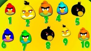 Angry Birds SONG for Kids and Children - Learn to Count Number Puzzle Games!