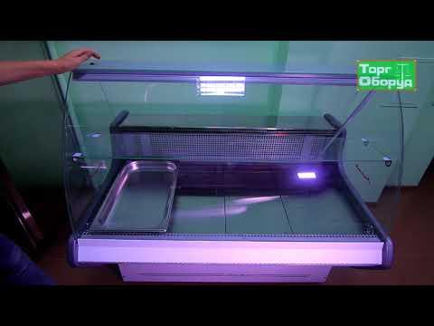 Видео холодильная витрина Технохолод ПВХС-«Прима»-1,4 на сайте Torgoborud.com.ua
