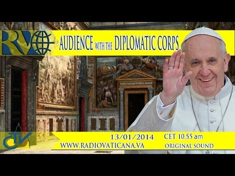 Audience with the Diplomatic Corps - Udienza di Papa Francesco al Corpo Diplomatico