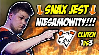 SNAX JEST NIESAMOWITY!!! CLUTCH 1vs3 NA MIBR, VIRTUS.PRO W WALCE O PLAYOFFY LANA - CSGO BEST MOMENTS