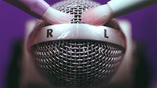 ASMR - Up-close mic brushing for tingles and sleep│Plastic wrap│No Talking