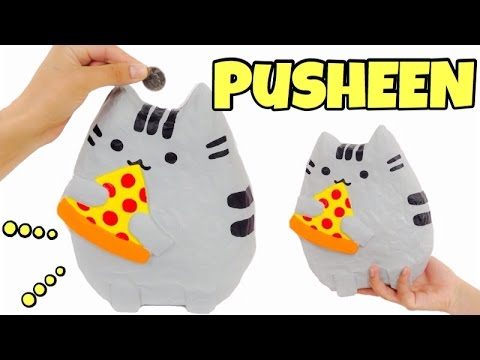 KAWAII CRAFTS:How to make a PUSHEEN money box EASY