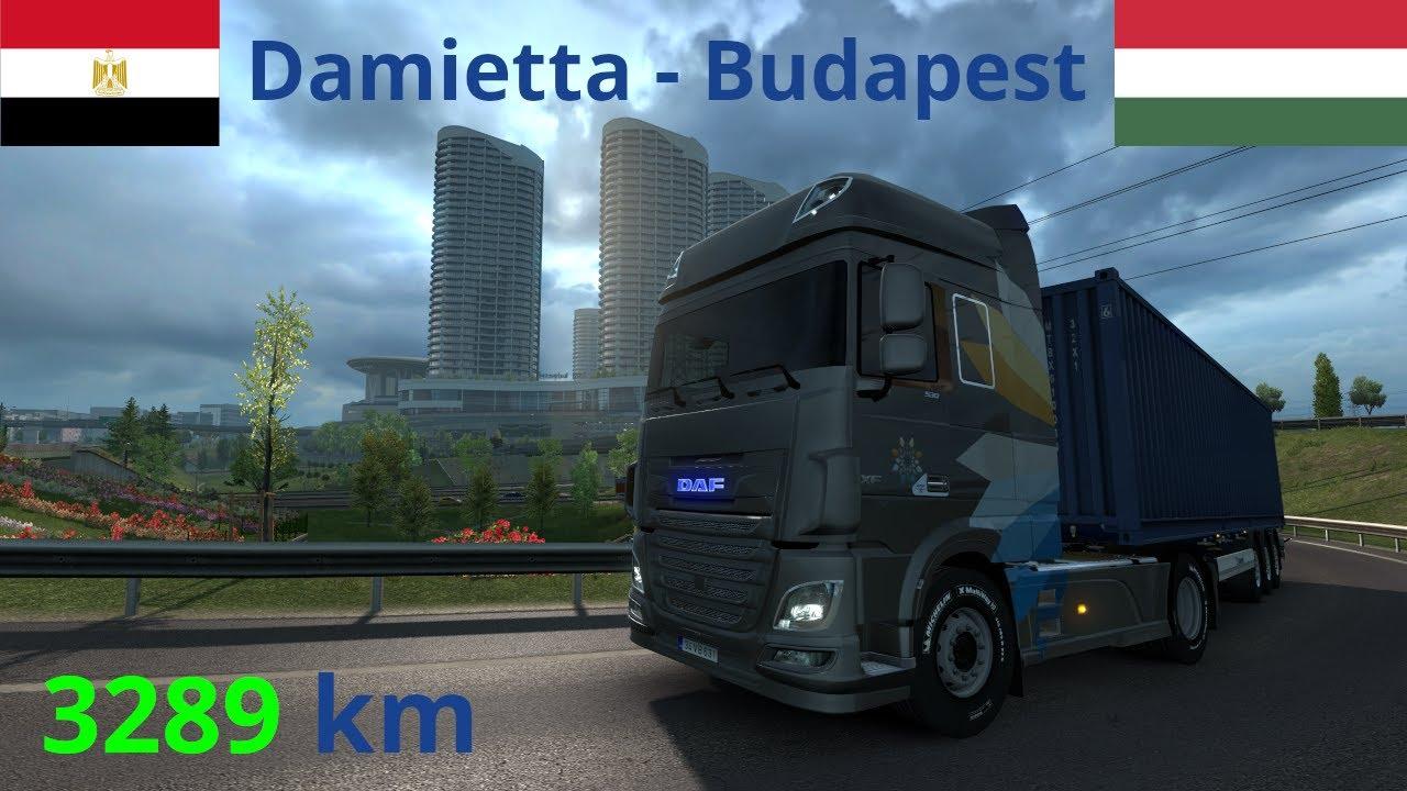 Euro Truck Simulator 2   PM ME Add-On + PT 1.0 + RoEx 2.6   Damietta (ET) - Budapest (H) [Timelapse]