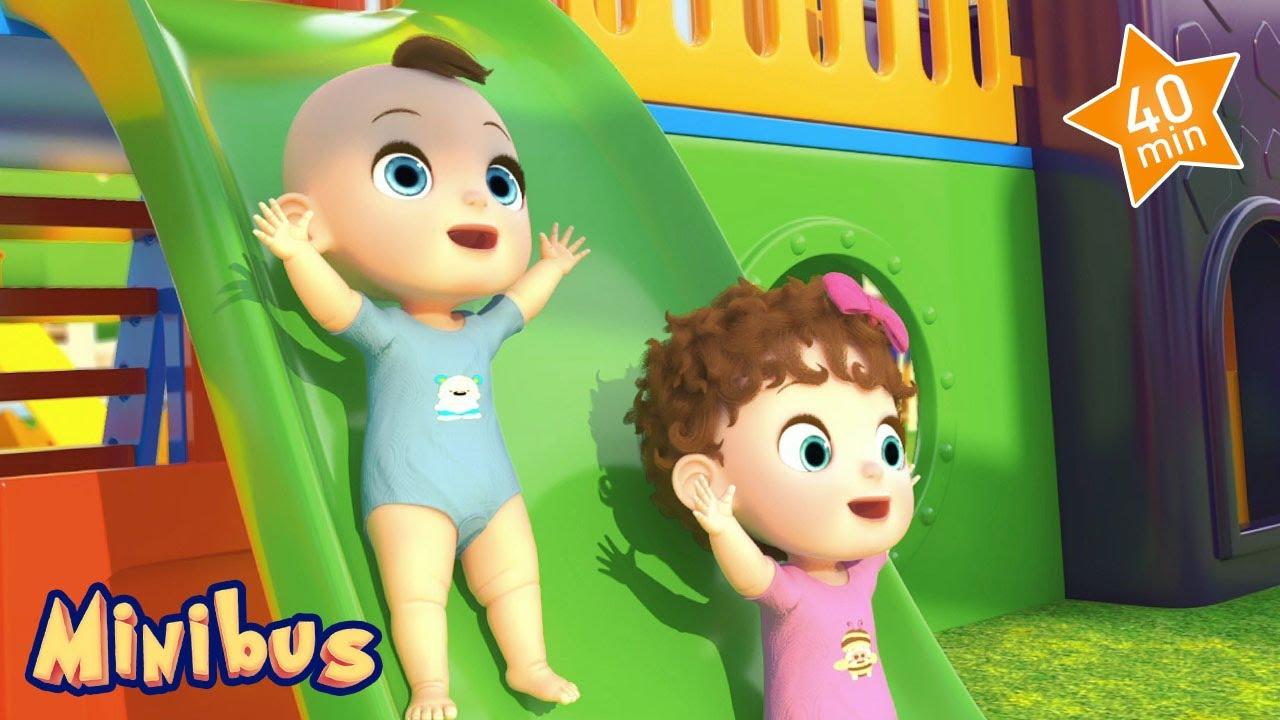 🚍 Nursery Rhymes for Children in English 🚌 Baby Songs | Kids Videos | Minibus