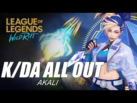 K/DA All Out Akali Skin Spotlight - WILD RIFT