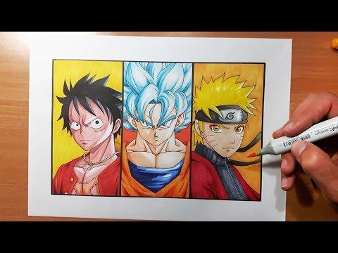 Drawing Goku Super Saiyan With Sharingan And Rinnegan