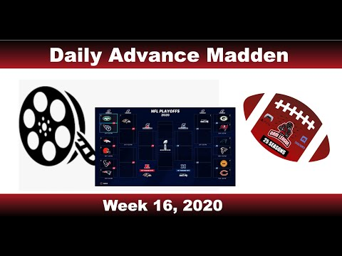 PS5 Daily Advance Madden (32 Users) Week 16 Highlights, 2020