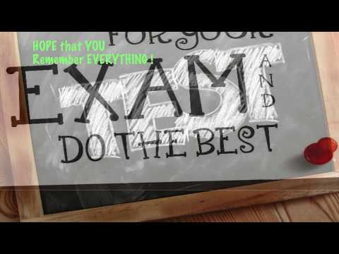 BEST WISHES FOR THE EXAM