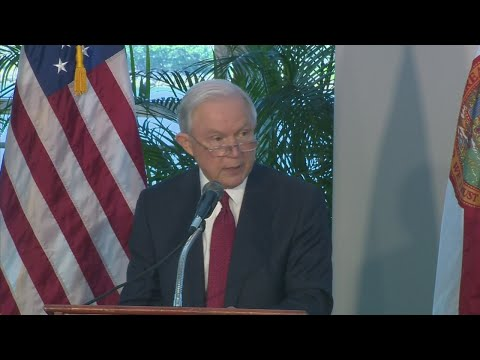 WebExtra: Atty. Gen. Jeff Session Talks 'Sanctuary Cities' during Miami Stop