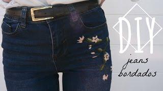 Diy Bordar Unos Jeans Monica Beneyto Youtube