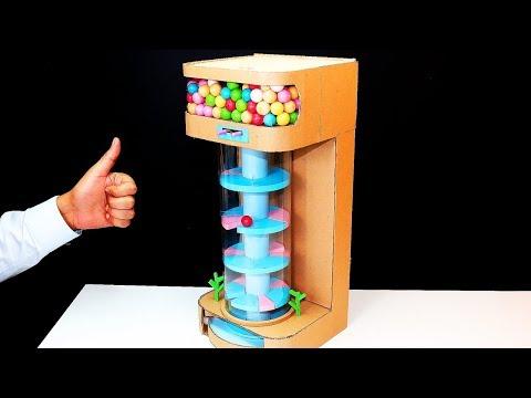 Helix Jump Game DIY - Build Hielix Jump Gumball Vending Machine From Cardboard